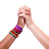 Держать руки Стоковое фото RF