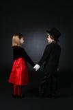 держать рук одежд детей милый dressy Стоковые Изображения RF