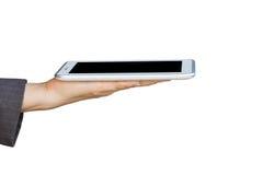 Держать цифровой ПК таблетки стоковое изображение