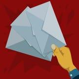 Держать 3 части конвертов Стоковое Фото