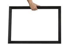Держать черную рамку текста стоковая фотография