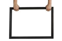 Держать черную рамку текста Стоковое Изображение RF