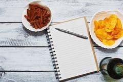 Держащ концепцию дневника - плоский взгляд Стоковое фото RF
