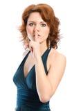 держите безмолвие shhhh Стоковое Изображение RF