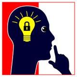 Держите ваш секрет вымысла бесплатная иллюстрация