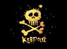 держите вне знак пирата стоковое изображение