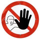 Держите вне знак Стоковое фото RF