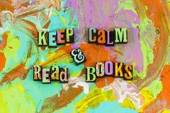 Держите книги прочитанные затишьем стоковое изображение rf