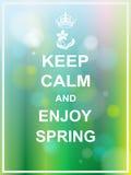 Держите спокойный и наслаждайтесь весной Стоковые Фотографии RF