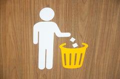 Держите чистый и размещайте знаки стоковые фото