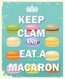Держите Clam и ешьте Macaroon иллюстрация вектора
