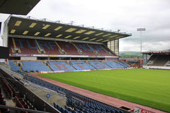 Дерновина причаливает футбольное поле, Burnley Великобританию Стоковые Изображения RF