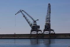 Деррик-кран порта стоковые фото