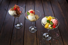 Десертное меню для ресторанов и каф Стоковые Фотографии RF