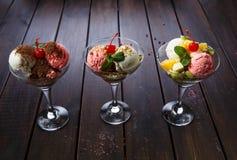 Десертное меню для ресторанов и каф Стоковое Изображение