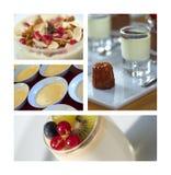 Десерты и молочные продучты Стоковые Изображения RF