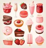 Десерты клубники бесплатная иллюстрация