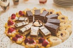 Десерты ресторанного обслуживании Стоковые Фото