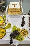 Десерты доставки с обслуживанием Стоковые Фото