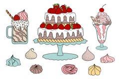 Десерты Стоковые Фотографии RF