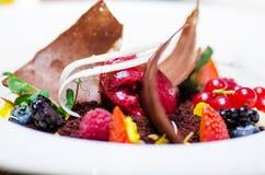 Десерт лакомки стоковая фотография rf