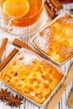 Десерт выпечки предпосылки рождества Стоковые Фотографии RF