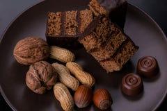 Десерт гайки Стоковое Изображение