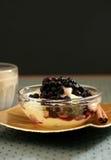 десерт голубики Стоковая Фотография