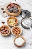 Десерт груш в шоколаде Стоковое Фото