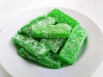 Десерт дыни тайский на белой плите стоковые фото