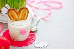 Десерт зайчика пасхи Стоковая Фотография