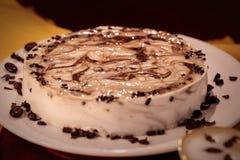 Десерт кофе торта Стоковая Фотография