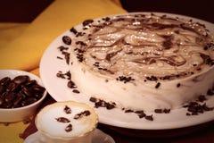 Десерт кофе торта Стоковые Изображения RF