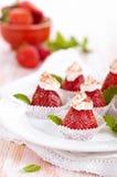 Десерт клубники с мятой Стоковое фото RF