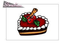 Десерт клюквы Стоковая Фотография RF