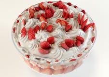 десерт меренги клубники иллюстрации 3D Иллюстрация вектора