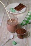 Десерт мусса и молока стоковые изображения rf