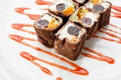 Десерт на белизне Стоковые Фото