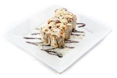 Десерт на белизне Стоковые Фотографии RF