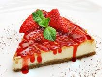 Десерт на плите Стоковая Фотография