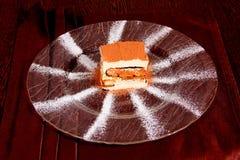 Десерт на плите Стоковое фото RF