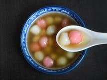 Десерт домодельного тайваньского стиля китайский tangyuan Стоковое Изображение RF