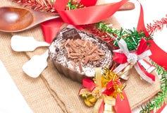 Десерт лосей шоколада украшая с аксессуарами. Стоковое Фото