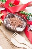 Десерт лосей шоколада украшая с аксессуарами. Стоковые Фотографии RF