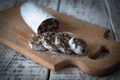 Десерт печений, шоколада, кофе и молока Стоковое фото RF