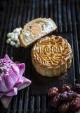 Десерт печенья mooncake традиционного китайския праздничный Стоковое Фото