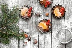 Десерт пирожного рождества Стоковое Фото
