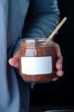 Десерт пудинга шоколада детей Стоковые Фото