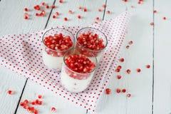 Десерт плитки panna здоровой клейковины свободный с Стоковое Изображение RF