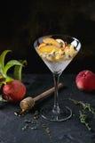 Десерт рикотты с персиком Стоковые Фото